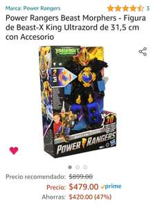 Amazon: Power Rangers Beast Morphers - Figura de Beast-X King Ultrazord de 31,5 cm con Accesorio