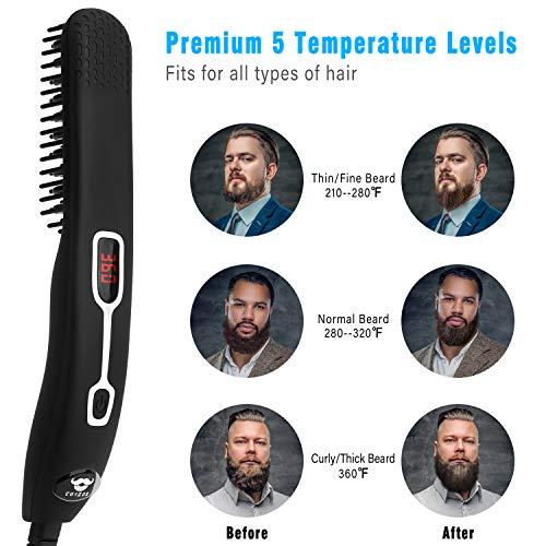 Amazon - Peine alisador de barba para hombres