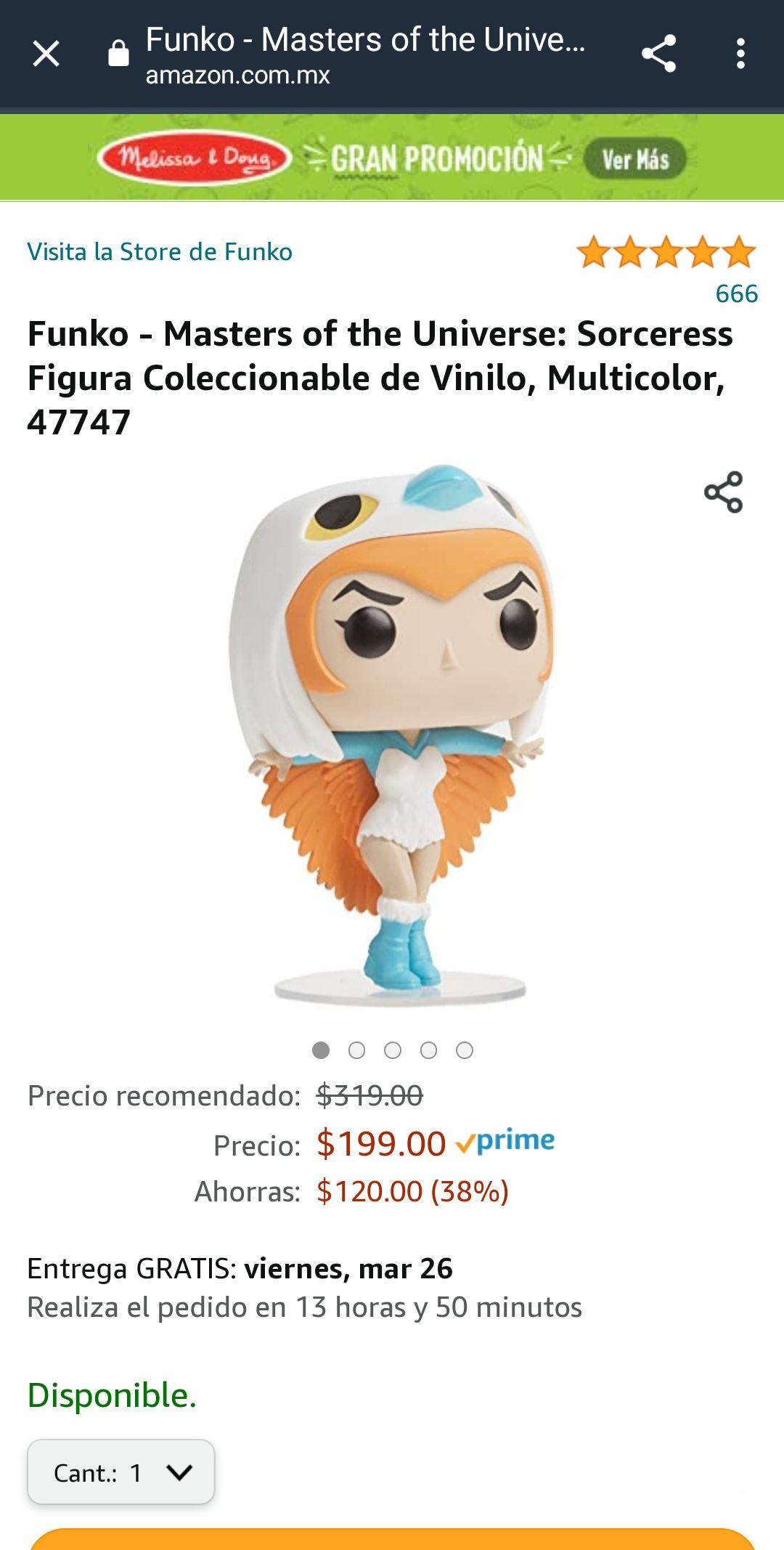 Amazon: Funko - Masters of the Universe: Sorceress Figura Coleccionable de Vinilo, Multicolor, 47747