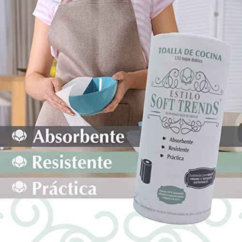 Amazon: Toalla De Cocina Eco-premium, 150 Hojas Dobles