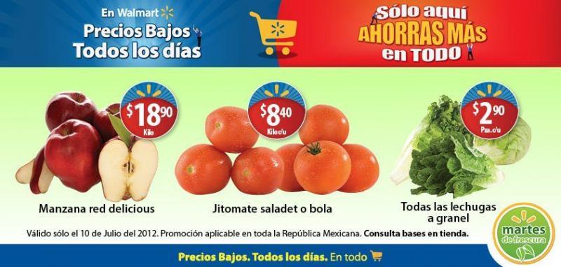 Martes de Frescura en Walmart julio 10: todas las lechugas $2.90, jitomate $8.40 y más