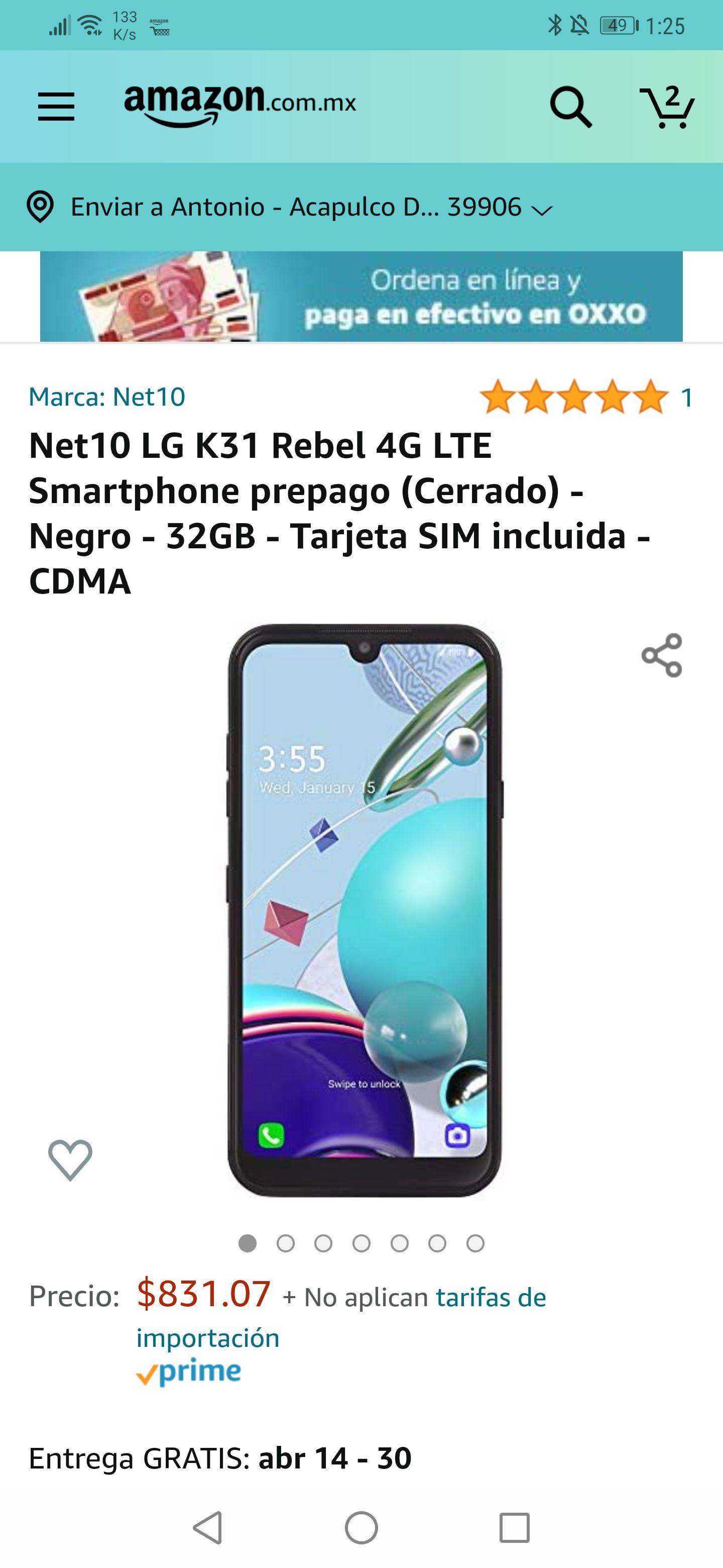 Amazon : Net10 LG K31 ( bloqueado) 32GB/ 2GB Android 10 ,Bluetooth 5. .0