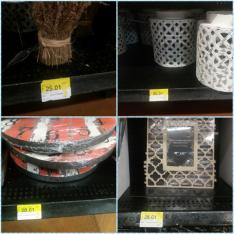 Walmart reloj coral 28.01 , portaretrato 28.01, bouquet de flores 25.01  y linterna vintage 45.01