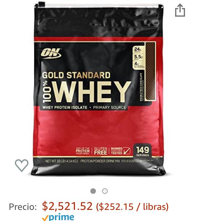 Amazon: proteína Gold standard 10lb (agregando 9 productos de super más)