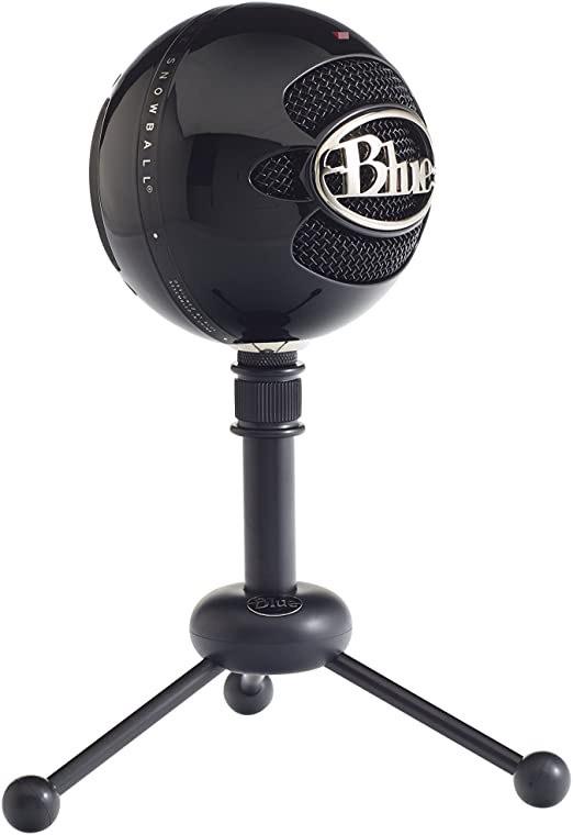 Amazon: Blue Micrófono USB SnowBall, color Negro Brillante 1912
