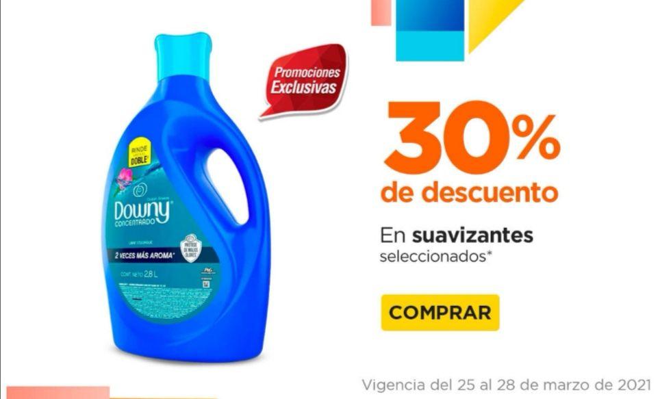 Chedraui: 30% de descuento en suavizantes Downy 2.8 L o lavatrastes Salvo limón 750/640 ml.