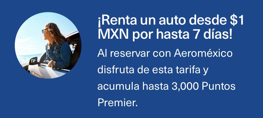 Aeromexico, Renta de auto por 20 centavos al día al volar con ellos