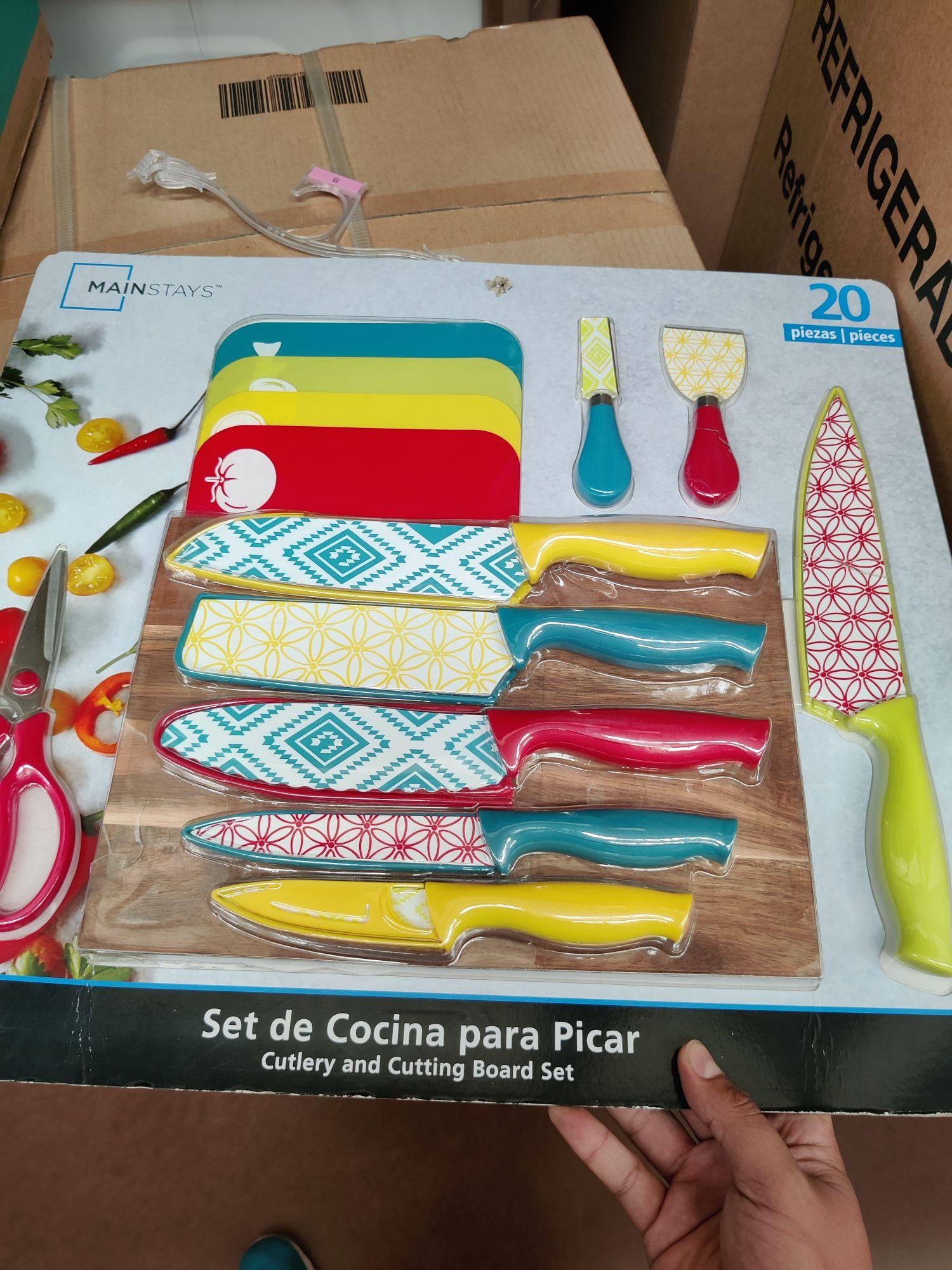 Walmart: Set de cuchillos con tablas