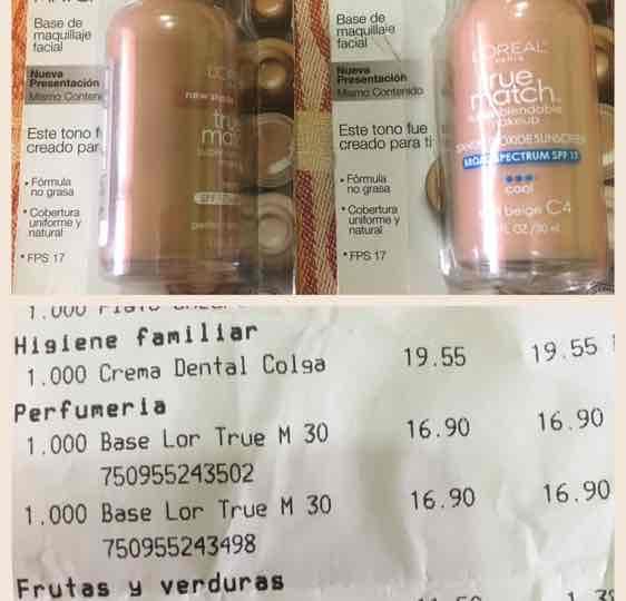 Chedraui Cordoba: Base de maquillaje True Match de Loreal a $16.90
