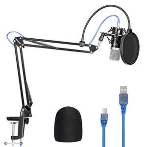 Amazon: Kit Micrófono NW-7000 MICRO CONDENSADOR USB
