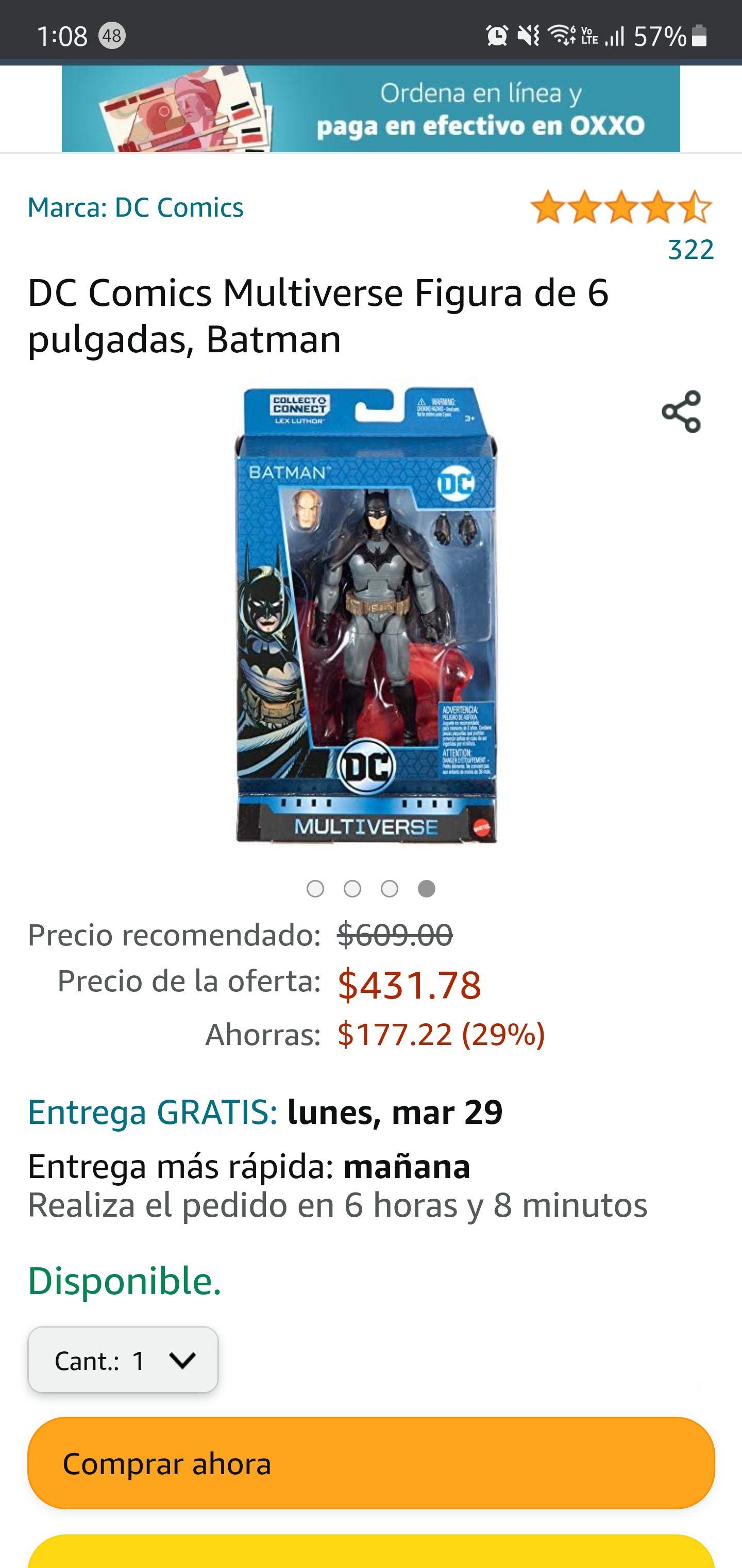 Amazon: Figura Batman DC