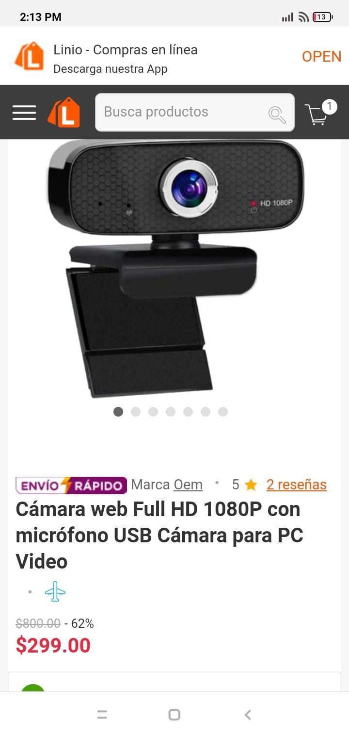 Linio: Camara web 1080 con micrófono.