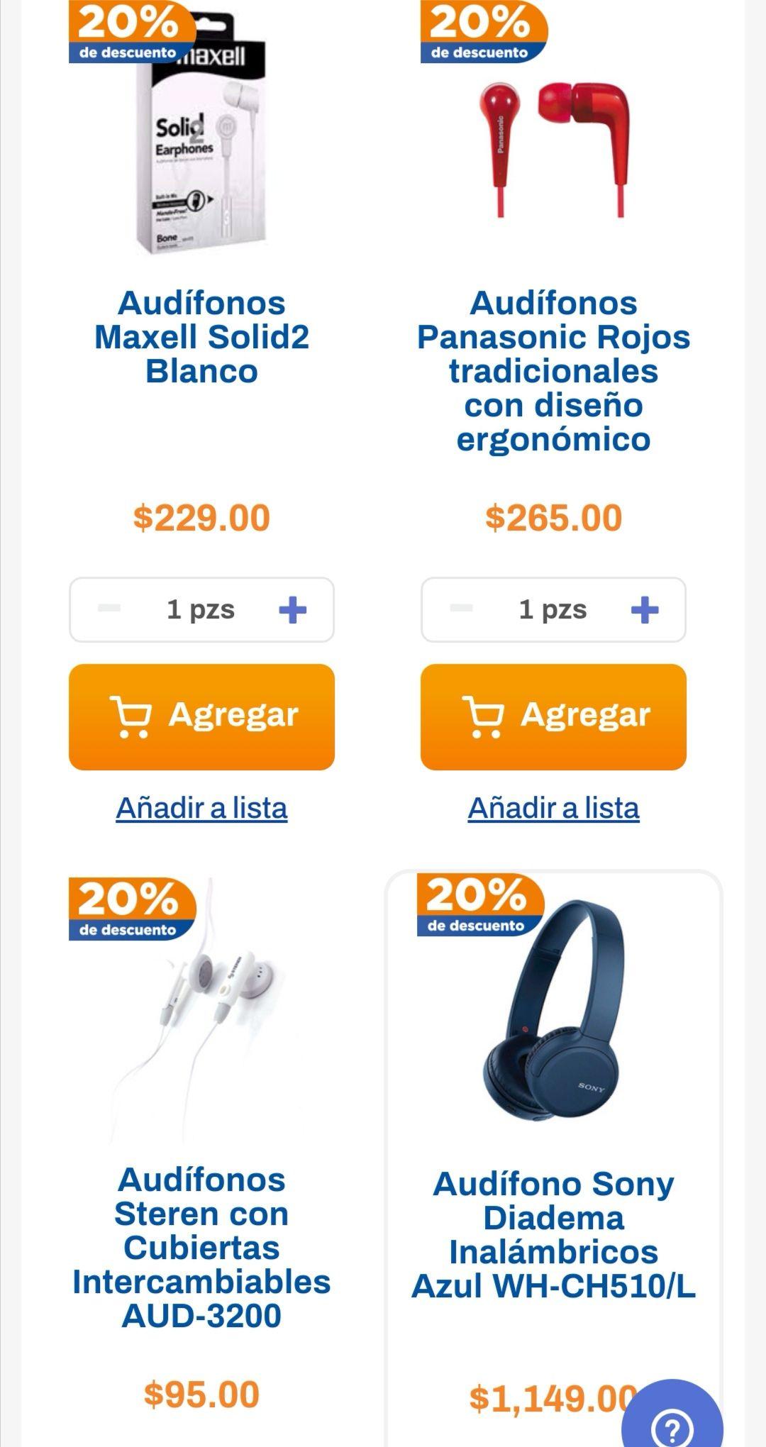 Chedraui: 20% de descuento en audífonos seleccionados
