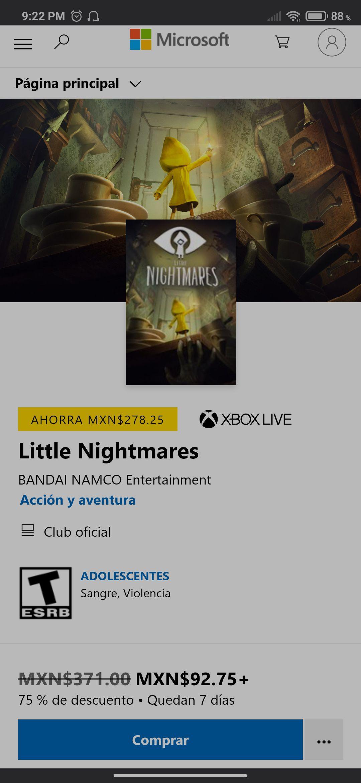 Microsoft Store: Little Nightmares 1 Xbox One