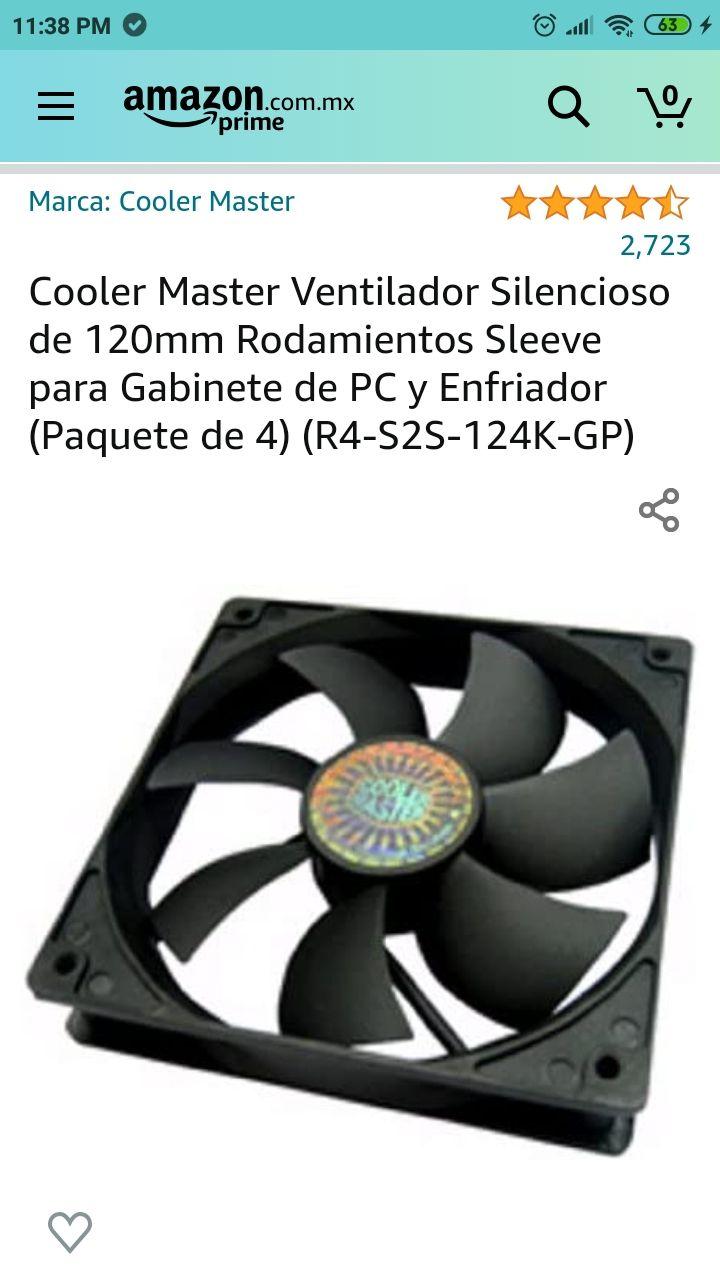 Amazon: pack de 4 ventiladores cooler master.