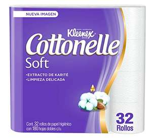 Amazon: Kleneex Cottonelle de 32 rollos