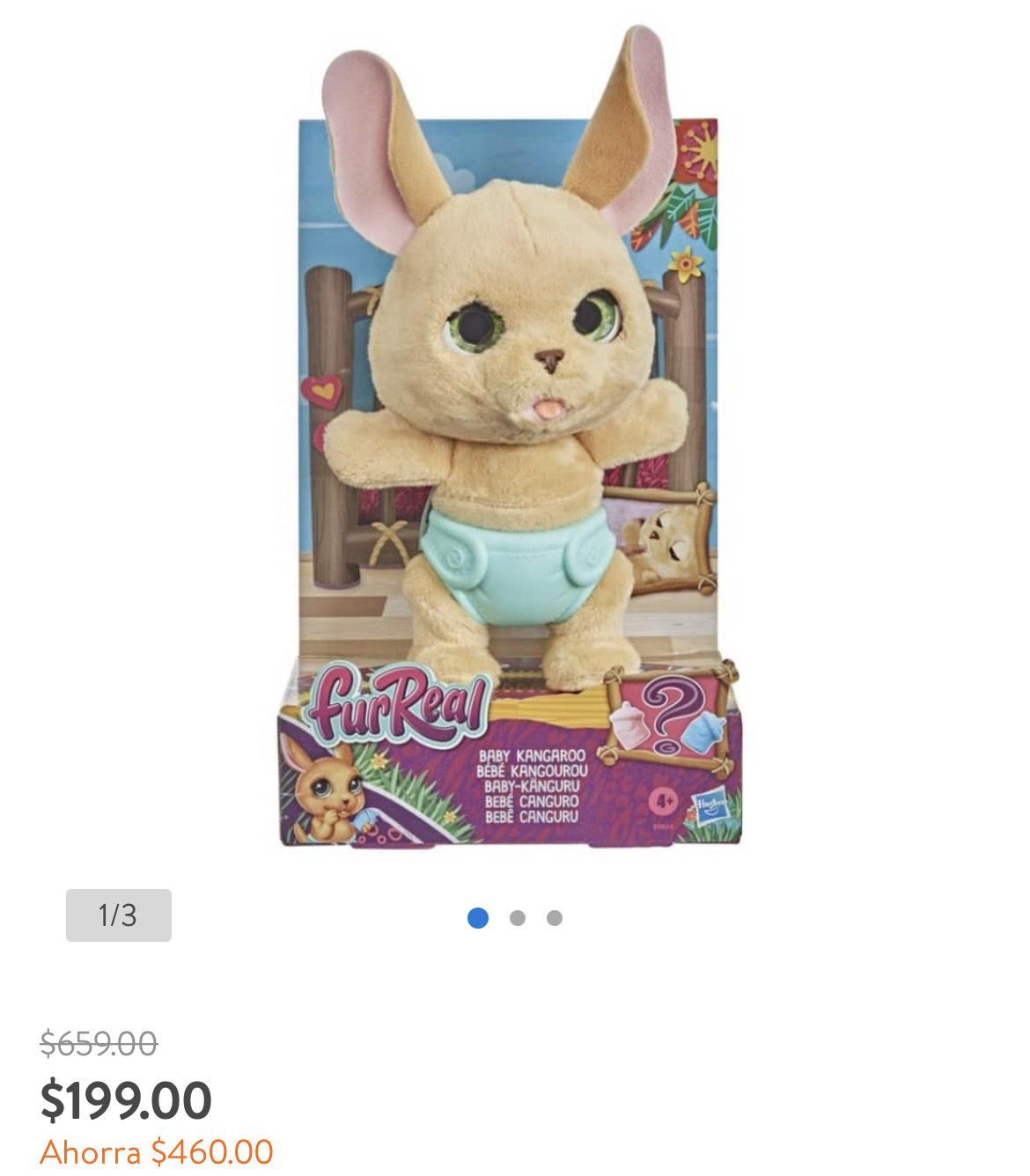 Walmart: Peluche Furreal Hasbro Bebé Canguro