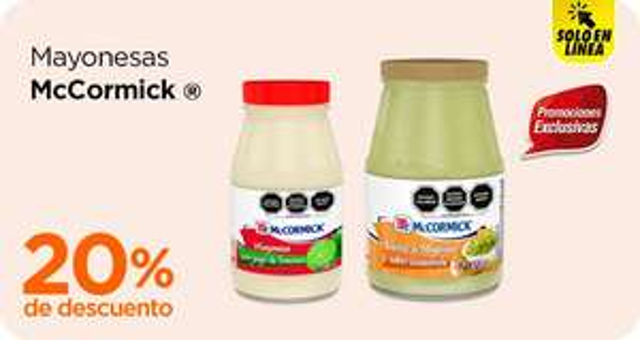 Chedraui: 20% de descuento en mayonesas McCormick