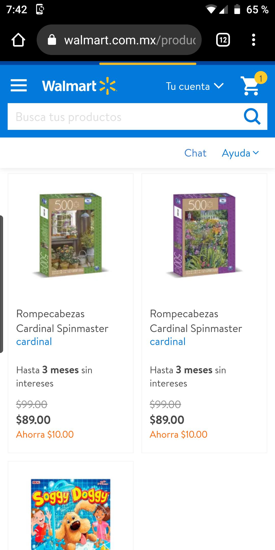 Walmart, Rompecabezas ventana ó flores 500 piezas spinmaster
