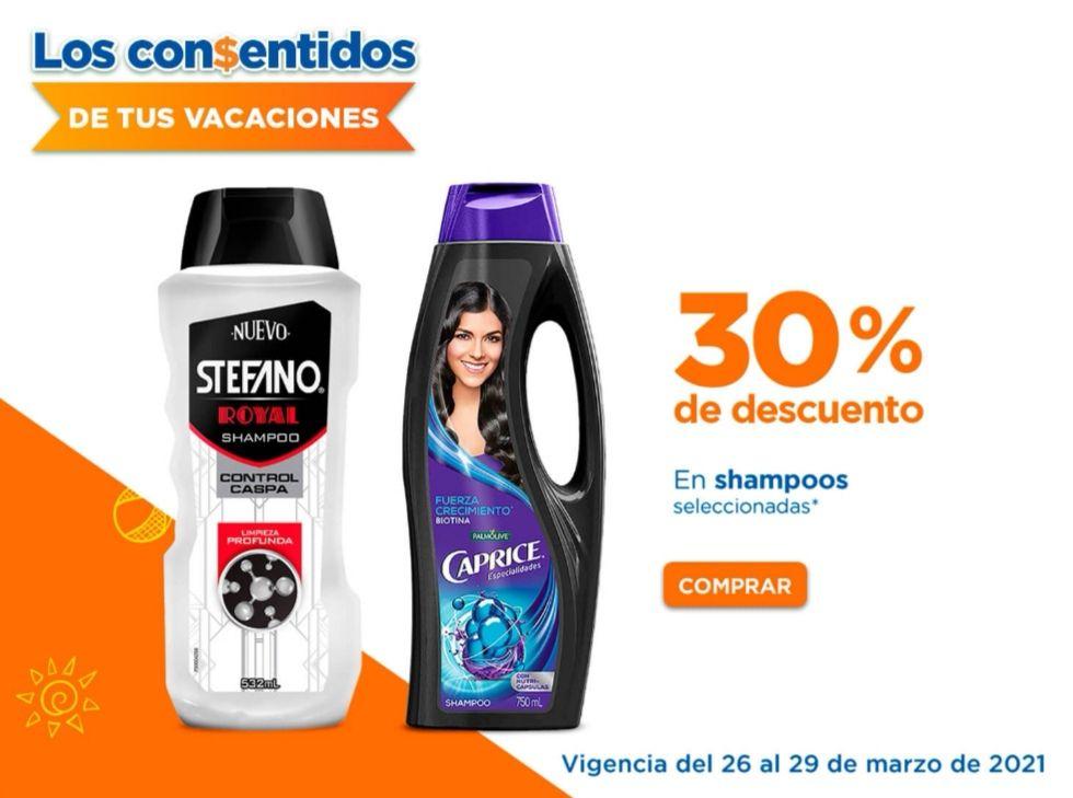 Chedraui: 30% de descuento en shampoos Optims, Caprice, Sedal y Stefano