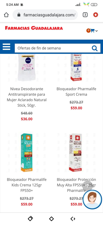Farmacias Guadalajara, Bloqueador Protección Muy Alta FPS50+ 125gr Pharmalife