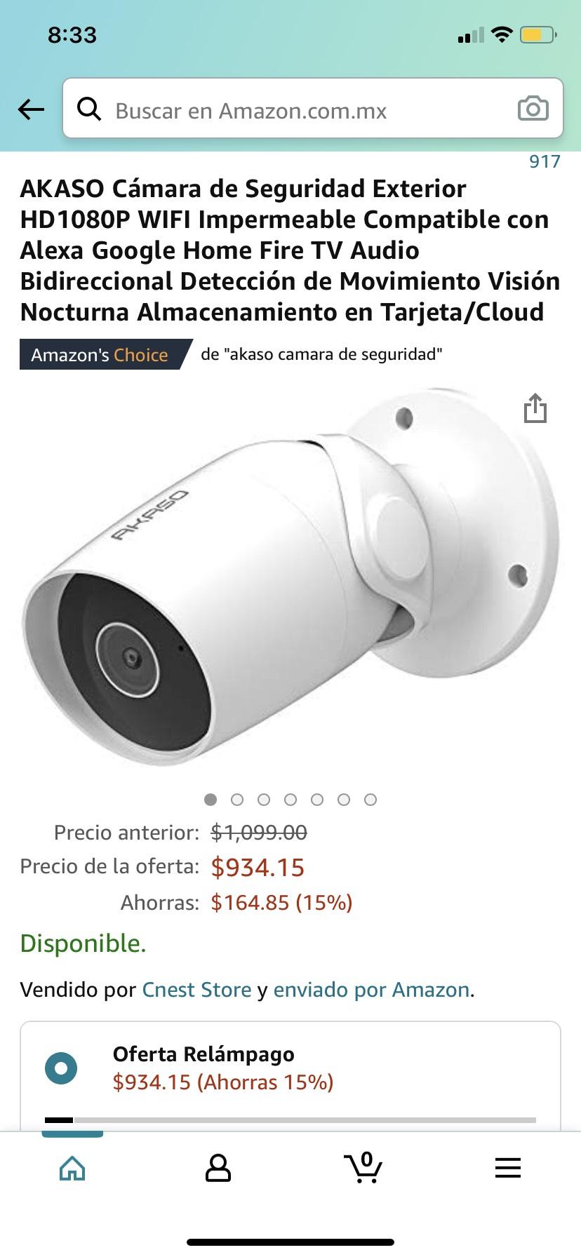 Amazon, Akaso cámara de seguridad WIFI