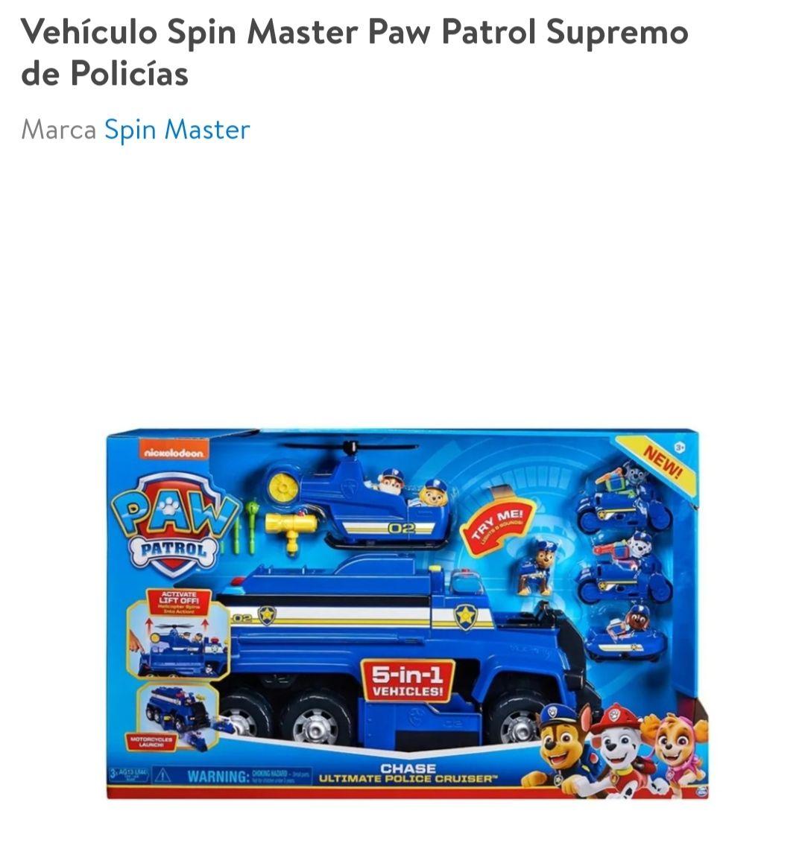 Walmart :Vehículo Spin Master Paw Patrol Supremo de Policías