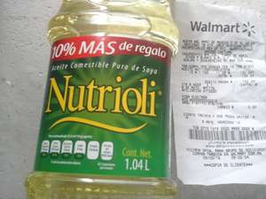 Walmart Chetumal: aceite Nutrioli de 1.04L a $11.02