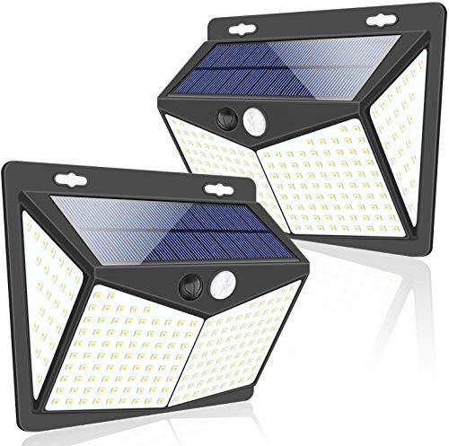 Amazon, PARA LOS APAGONES 2 Luces Solares Exterior 208 LED c/u precio con cupón al finalizar compra