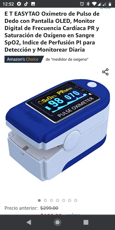 Amazon: Oxímetro de pulso EASYTAO (Amazon Prime)