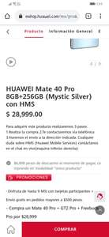 Huawei Mate 40 pro con watch gt2 pro y freebuds pro
