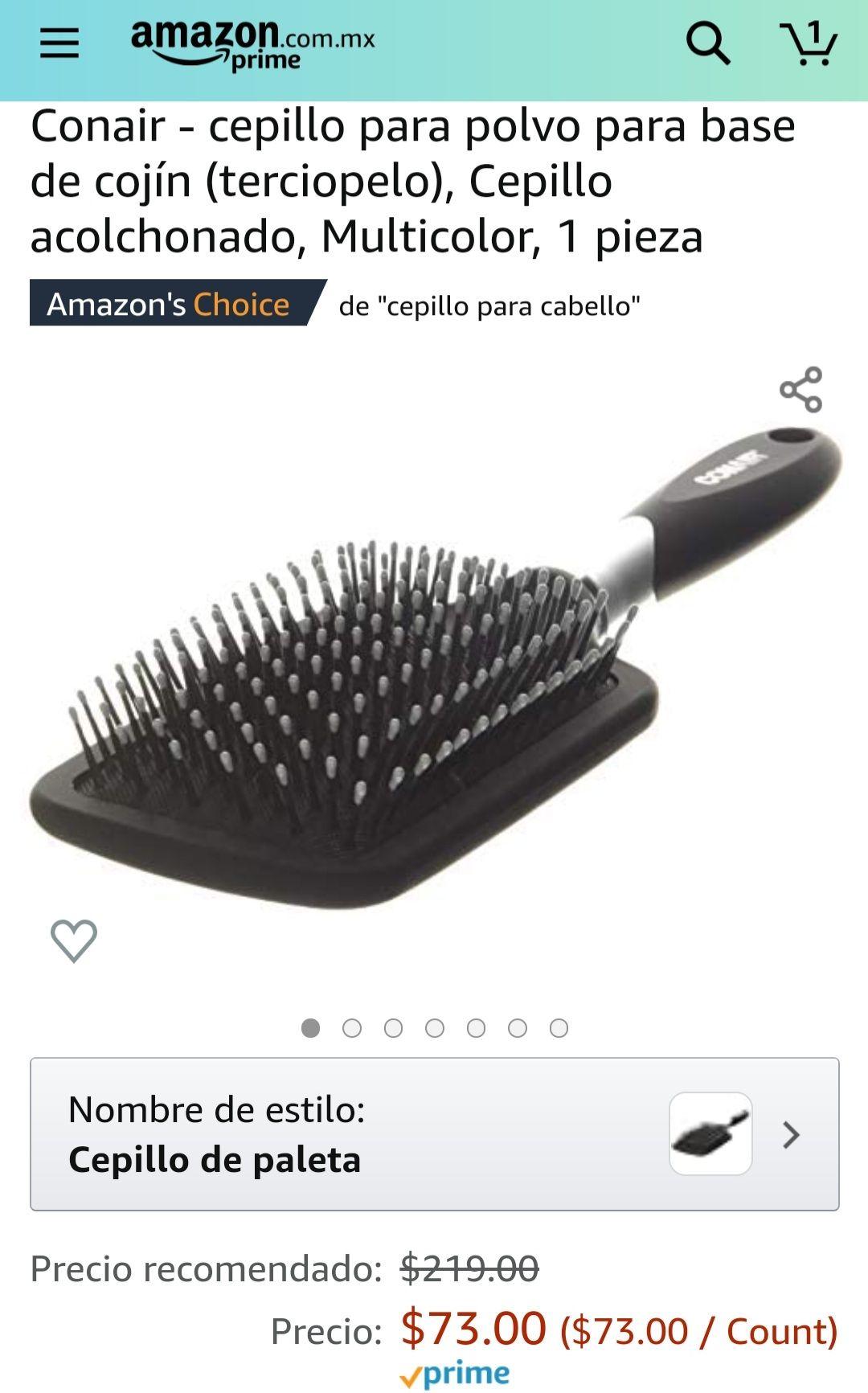 Amazon Conair - cepillo para polvo para base de cojín (terciopelo), Cepillo acolchonado, Multicolor, 1 pieza