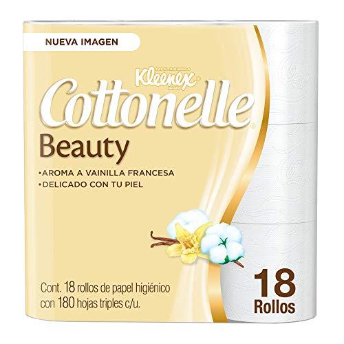 Amazon: Kleenex Cottonelle Beauty, Papel Higiénico, color Blanco, 18 Rollos x 180 Hojas Triples