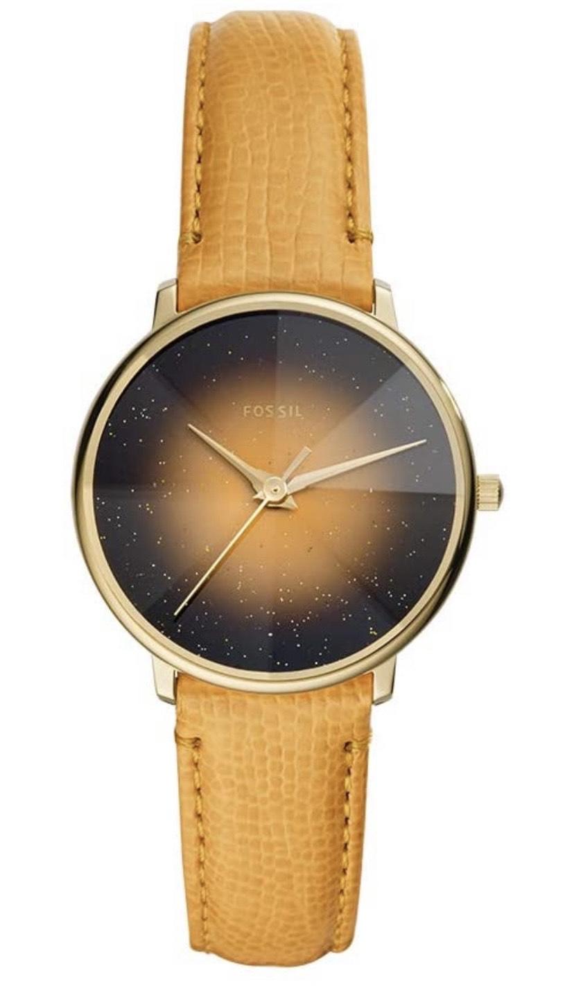 Amazon: Reloj Fossil de Dama caja dorada correa de piel