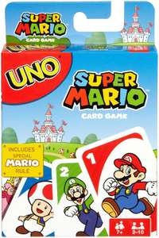 Amazon: UNO Cartas Super Mario Bros Juego de Cartas para Jugar con Familia y Amigos para niños de 7 años en adelante
