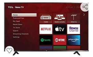 "Amazon: Televisión TCL 55"" Smart TV LED HDR10 a 120 Hz (Renewed)"