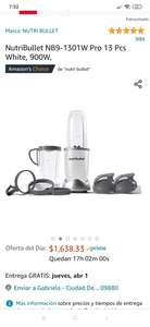Amazon Nutribullet 900 watts, blanco 13 piezas