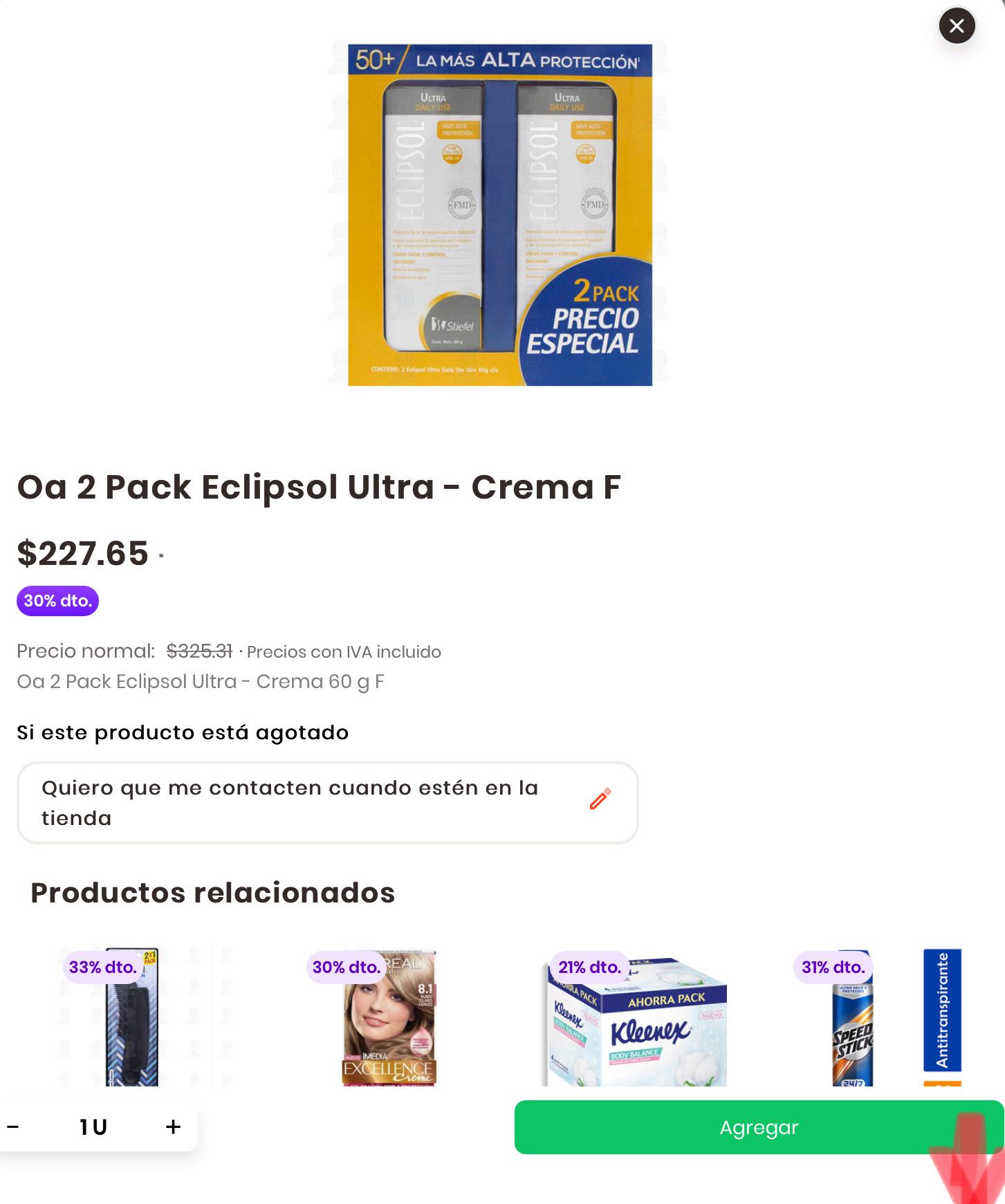 Rappi - Mejor precio de ECLIPSOL, en Farmacias Guadalajara.