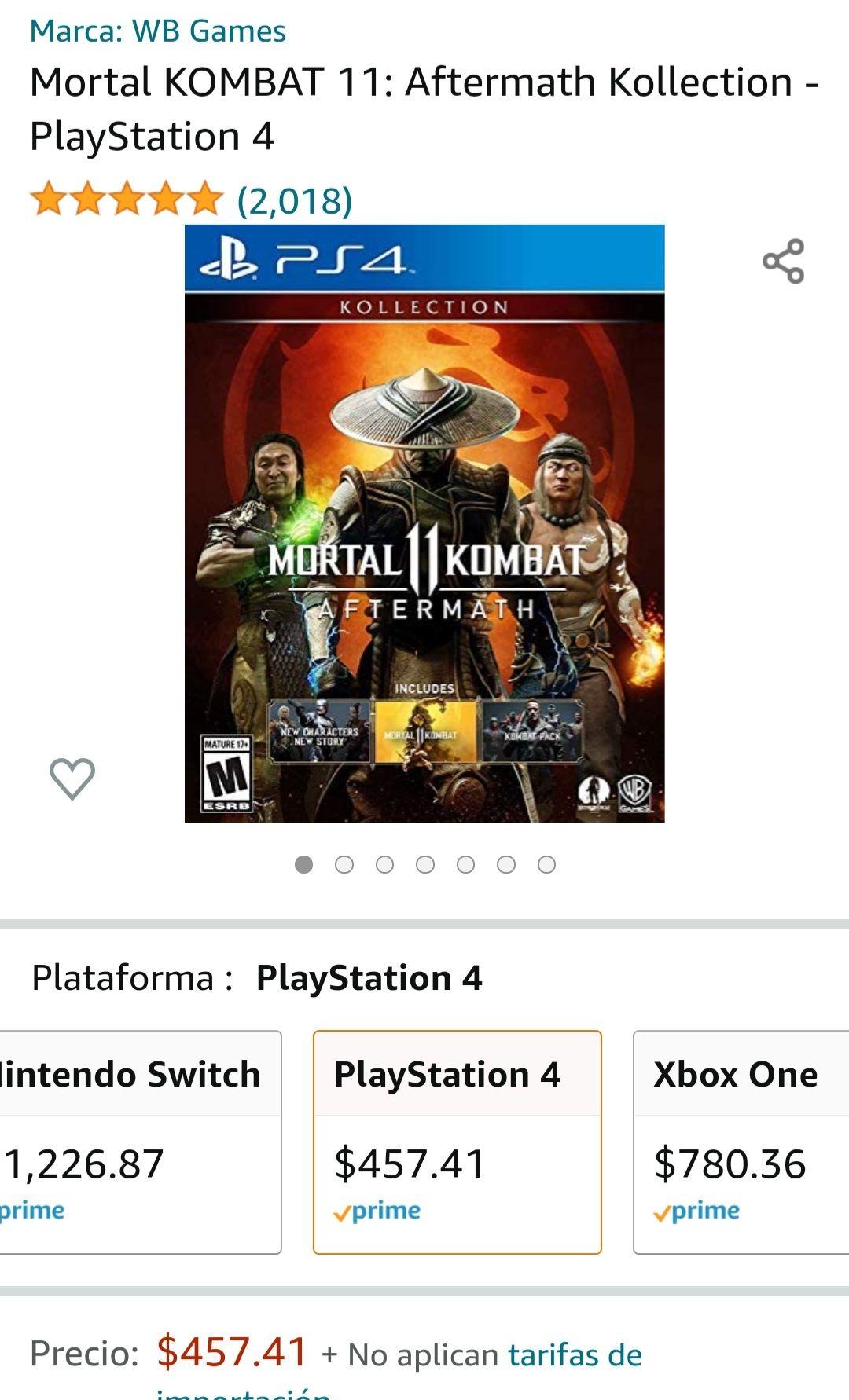 Amazon: Mortal KOMBAT 11: Aftermath Kollection - PlayStation 4