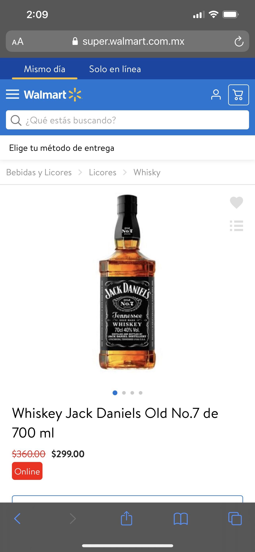 Walmart: Jack Daniels precio rebajado