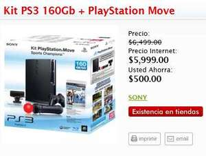 Sanborns: Kit PlayStation Move a $5,999