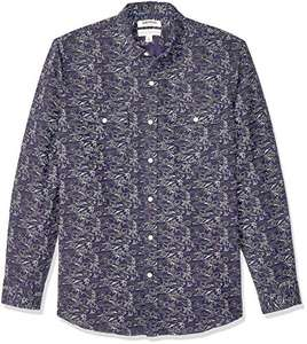 Amazon: Goodthreads Camisa de Manga Larga de Mezcla de algodón y Lino de Ajuste estándar