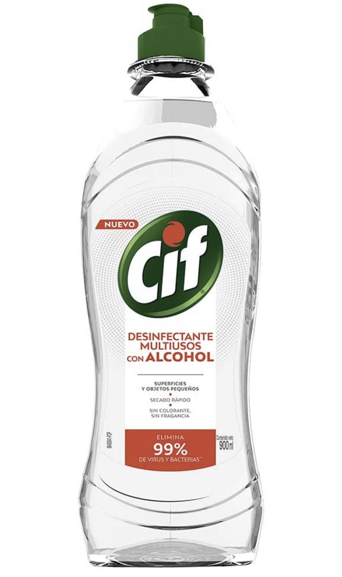 Amazon: Cif Desinfectante Multiusos con Alcohol 900 ml