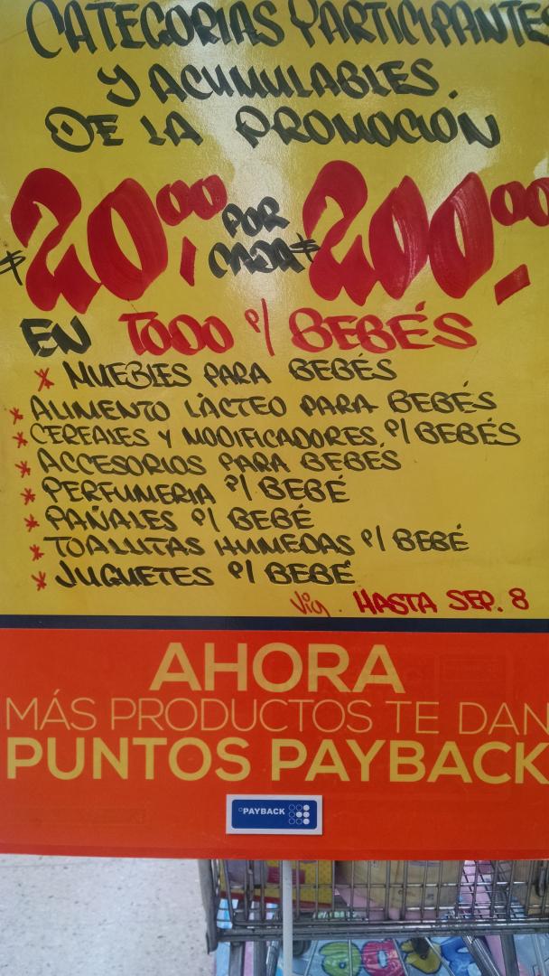 Comercial Mexicana: $20 puntos Payback por cada $200 departamento bebés