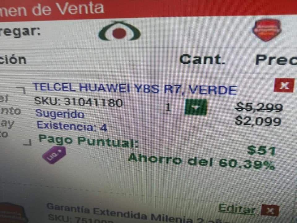 Huawei Y8S en Elektra Minatitlán