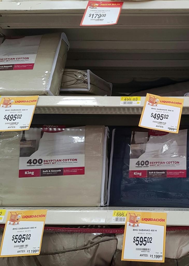 Walmart: Segunda liquidacion de Sabanas de 400 hilos a $495.02