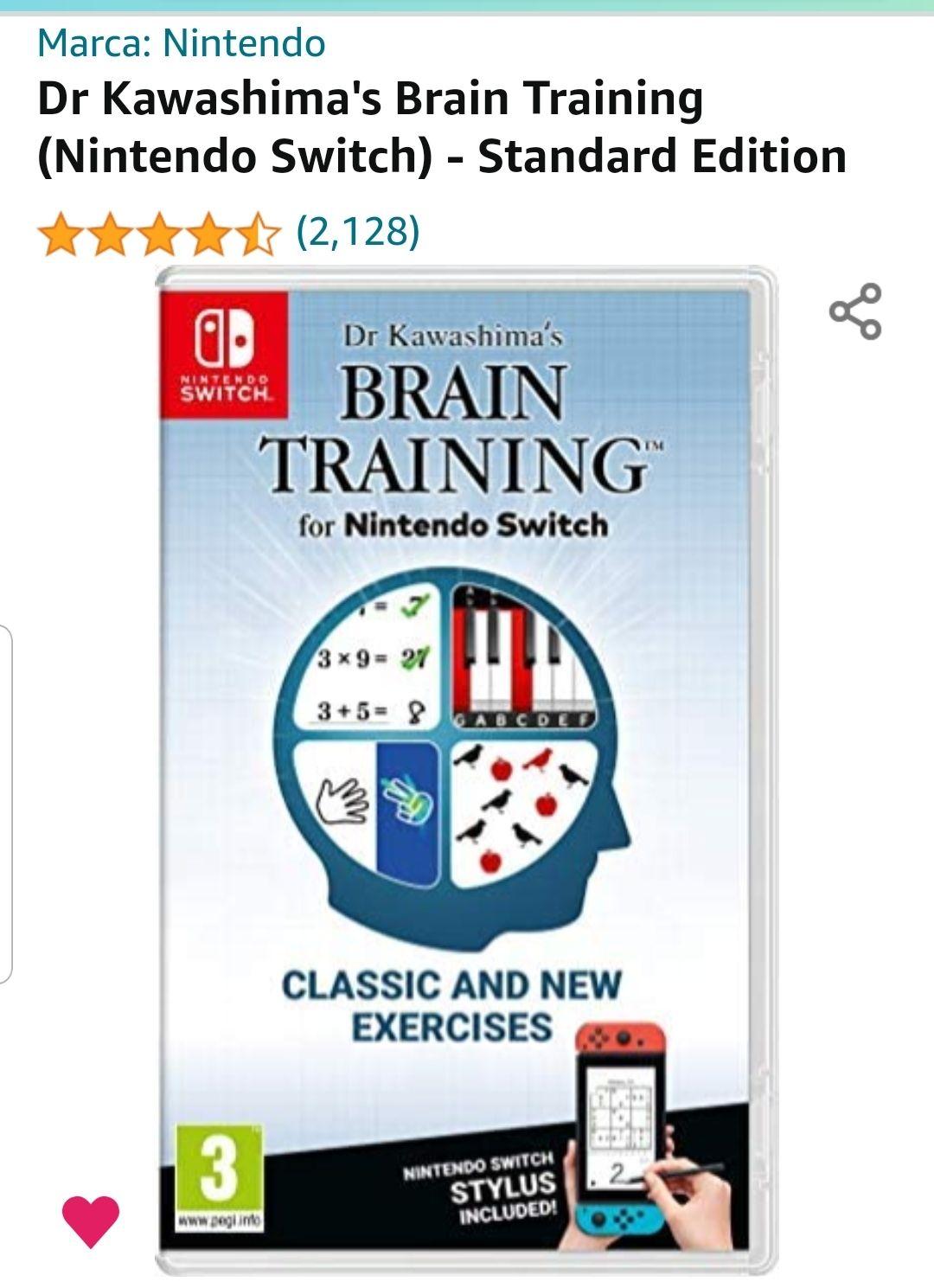 AMAZON: Dr Kawashima's Brain Training (Nintendo Switch) - Standard Edition
