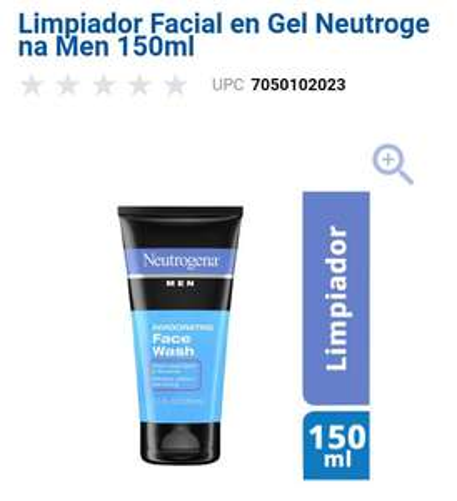 Chedraui: Limpiador facial para caballero Neutrogena