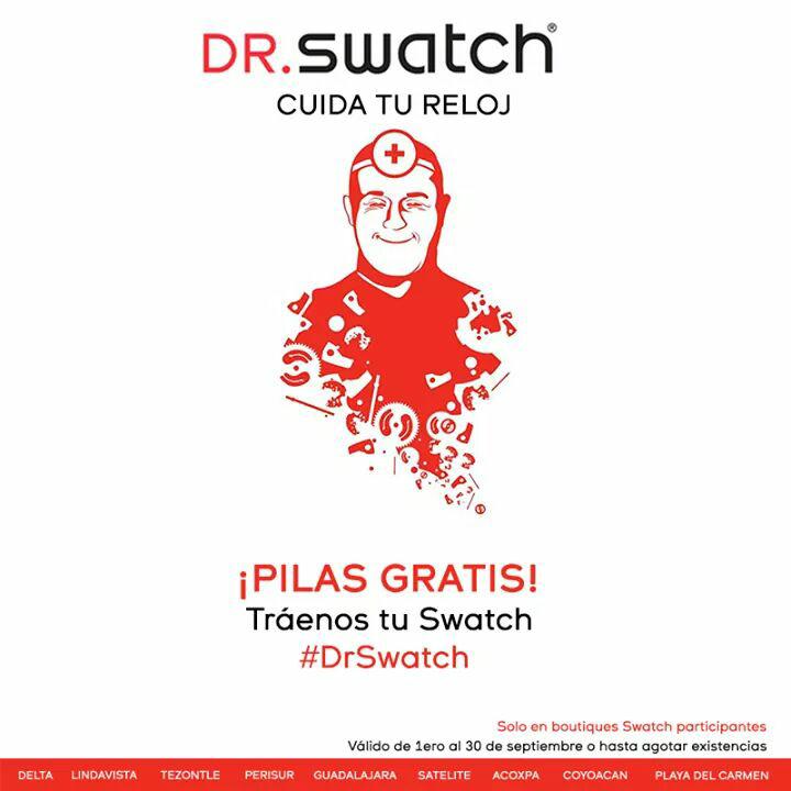 Swatch: cambio de pilas gratis durante septiembre