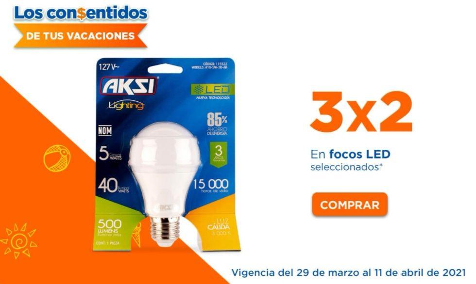 Chedraui: 3 x 2 en focos LED Aksi y Home Line